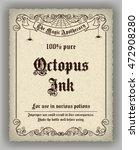 halloween apothecary label in... | Shutterstock . vector #472908280