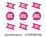 various discount tags   labels | Shutterstock .eps vector #472908538