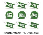 various discount tags   labels | Shutterstock .eps vector #472908553