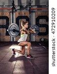 beautiful sporty woman doing... | Shutterstock . vector #472910209