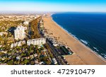 Aerial View Of The Beach In...