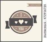 i love you badge banner | Shutterstock .eps vector #472916734