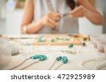 woman creating her line of... | Shutterstock . vector #472925989