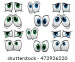 blue and green cartoon eyes... | Shutterstock . vector #472926220
