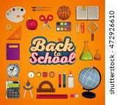 back to school. 3d rendering   Shutterstock . vector #472926610