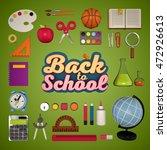back to school. 3d rendering   Shutterstock . vector #472926613
