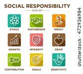 social responsibility outline... | Shutterstock .eps vector #472936984
