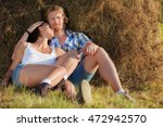 young couple in love hugging... | Shutterstock . vector #472942570