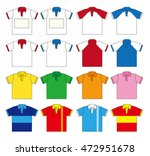 polo shirt vector set  sixteen... | Shutterstock .eps vector #472951678