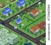 isometric vector city in top... | Shutterstock .eps vector #472960564