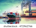 logistics and transportation of ... | Shutterstock . vector #472962766