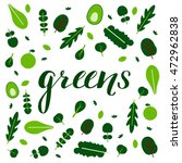 amazing greens  fruits and... | Shutterstock .eps vector #472962838