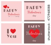 happy valentines day cards | Shutterstock .eps vector #472968088