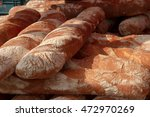 fresh loaf of bread at a... | Shutterstock . vector #472970269