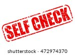 self check red stamp text on...   Shutterstock .eps vector #472974370