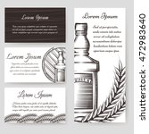 whisky bouqlet and cards... | Shutterstock .eps vector #472983640
