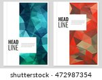 abstract triangle brochure... | Shutterstock .eps vector #472987354