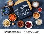 super food selection. various... | Shutterstock . vector #472992604