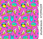 seamless pattern with bananas ... | Shutterstock .eps vector #472994209