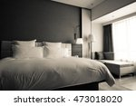 hotel room or bedroom interior. ... | Shutterstock . vector #473018020