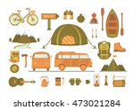set of equipment for camping.... | Shutterstock .eps vector #473021284