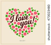 love you typographical... | Shutterstock .eps vector #473023480