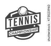 sport tennis logo. black and...   Shutterstock .eps vector #473023960