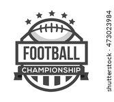 sport american football logo.... | Shutterstock .eps vector #473023984