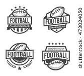 set of sport american football...   Shutterstock .eps vector #473024050