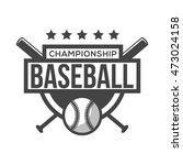 sport baseball logo. black and... | Shutterstock .eps vector #473024158