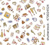 illustration pattern of the... | Shutterstock .eps vector #473024524