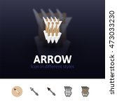 arrow color icon  vector symbol ...