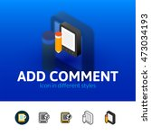 add comment color icon  vector...
