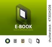 e book color icon  vector...
