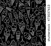 icecream collection  seamless... | Shutterstock .eps vector #473037613