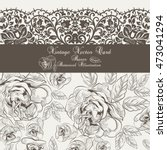 Vector Vintage Floral And Lace...