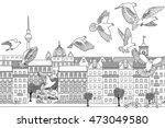 berlin  germany   hand drawn... | Shutterstock .eps vector #473049580