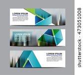 collection  business banner set ... | Shutterstock .eps vector #473051008