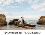 blurred image of wedding couple ... | Shutterstock . vector #473053090