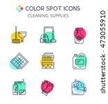 modern clean linear style.... | Shutterstock .eps vector #473055910