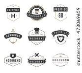 vintage logos design templates... | Shutterstock .eps vector #473069659