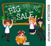 back to school summer sale... | Shutterstock .eps vector #473072008