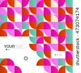 abstract mosaic pattern... | Shutterstock .eps vector #473074174