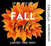 autumn sale flyer template with ... | Shutterstock .eps vector #473077813