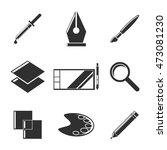 design tools icons set.