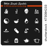 spa simply symbol for web icons ... | Shutterstock .eps vector #473084233