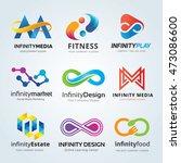 infinity logo set | Shutterstock .eps vector #473086600