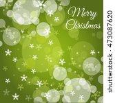 christmas green background  | Shutterstock .eps vector #473087620