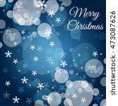 christmas blue background  | Shutterstock .eps vector #473087626