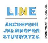 alphabet line art vector... | Shutterstock .eps vector #473089906